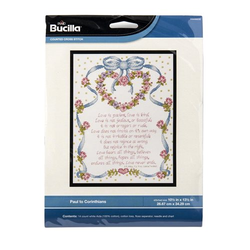 Bucilla ® Counted Cross Stitch - Picture Kits - Paul to Corinthians - WM49003E