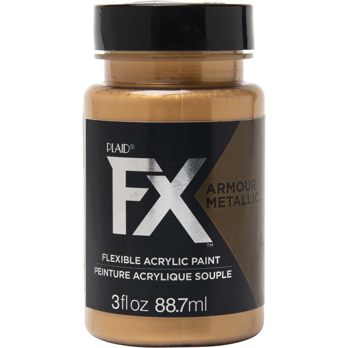 PlaidFX Armour Metal Flexible Acrylic Paint - Bronzed, 3 oz. - 36888