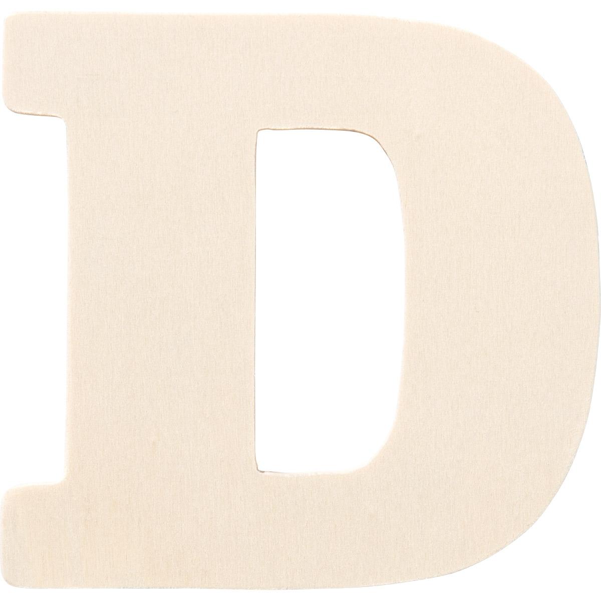 Plaid ® Painter's Palette™ Wood Letter - D. 4 inch - 23793