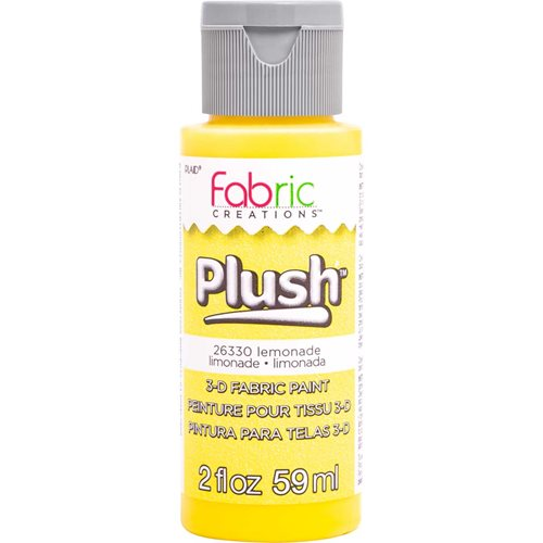 Fabric Creations™ Plush™ 3-D Fabric Paints - Lemondade, 2 oz.