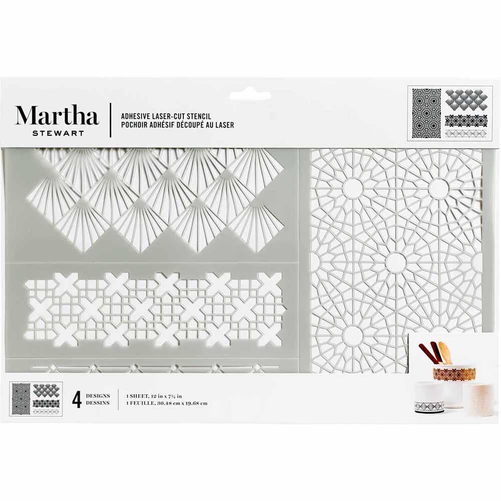 Martha Stewart ® Adhesive Stencil - Geometric - 5975