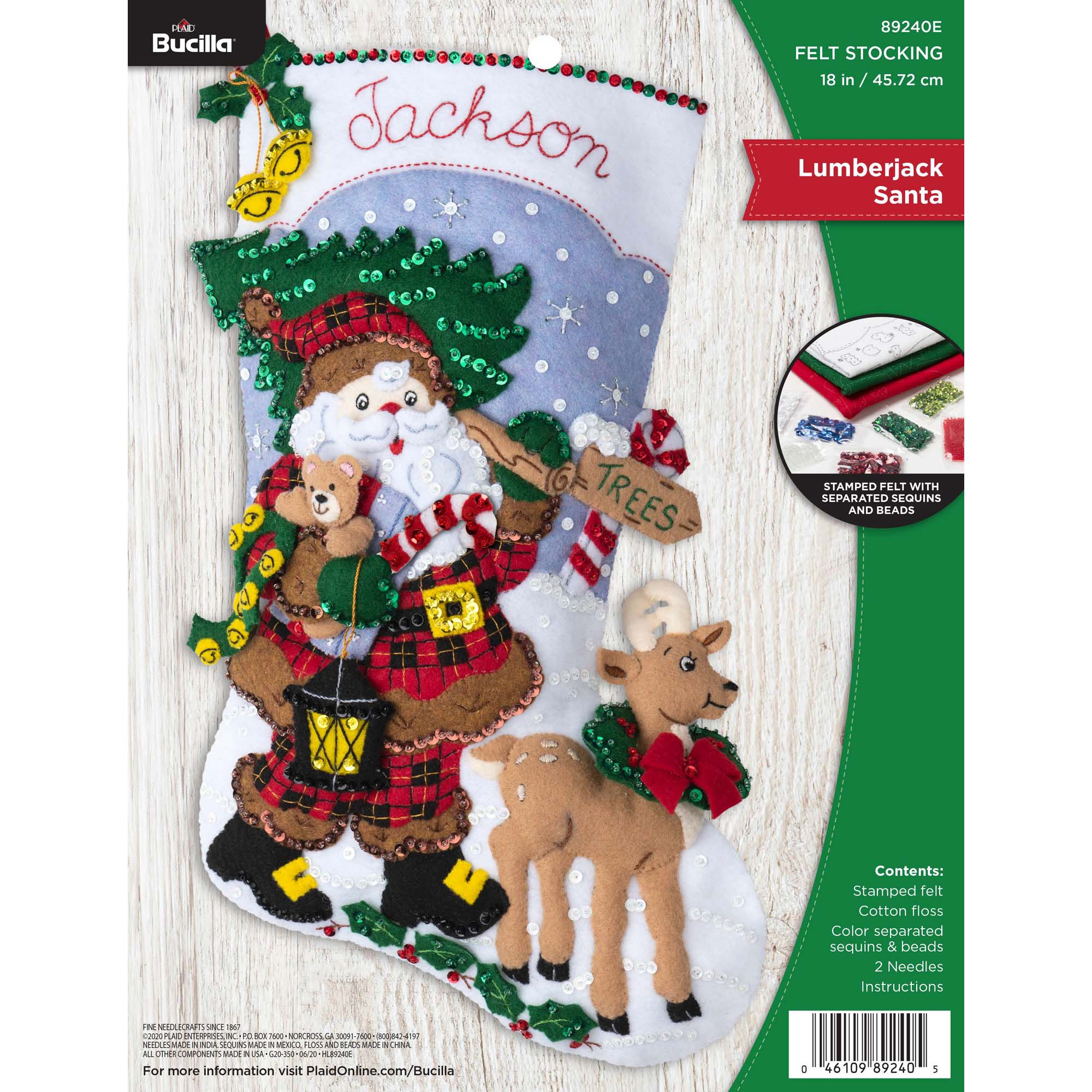 Bucilla ® Seasonal - Felt - Stocking Kits - Lumberjack Santa - 89240E