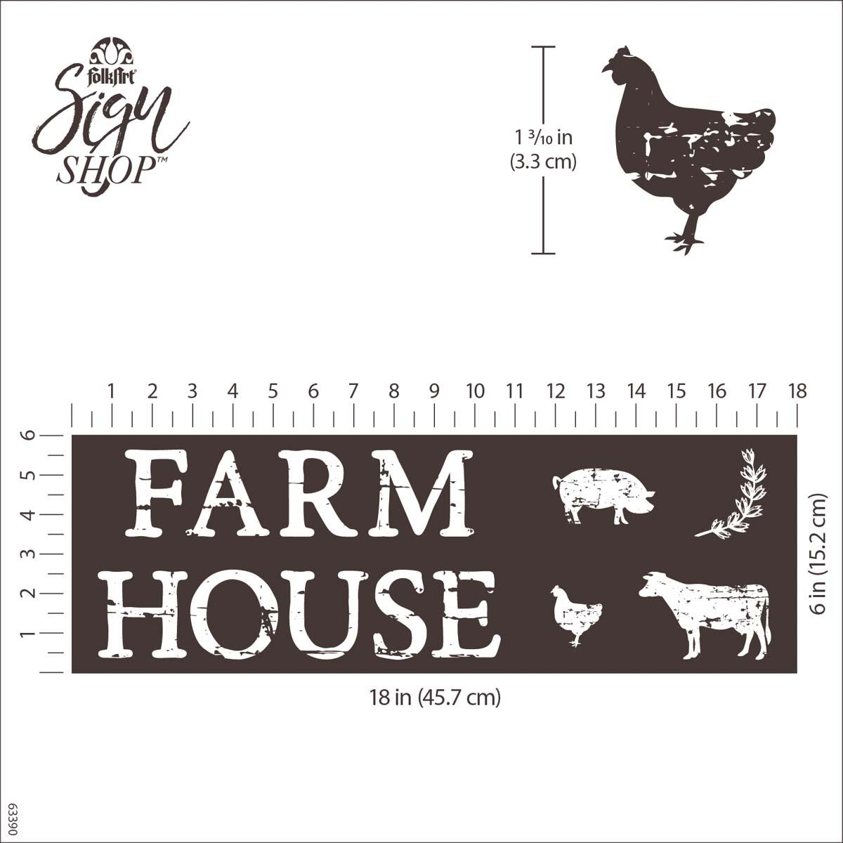FolkArt ® Sign Shop™ Mesh Stencil - Farmhouse - 63390