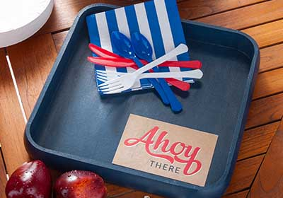 Nautical Party Tray