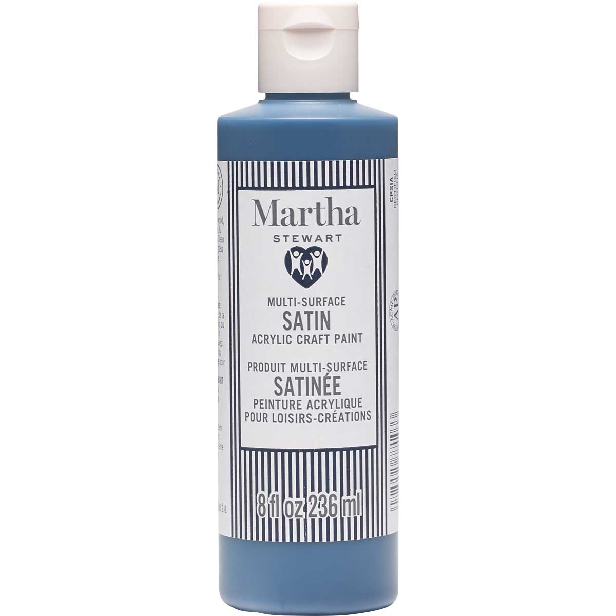 Martha Stewart® 8oz Multi-Surface Satin Acrylic Craft Paint - Deep Sea Blue
