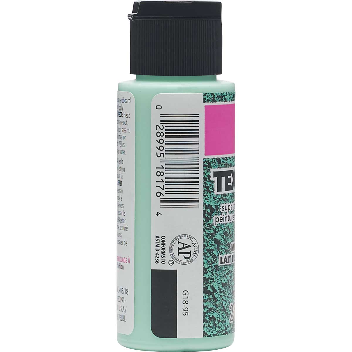 LaurDIY ® Texturific™ Fabric Paint - Mint MIlkshake, 2 oz.
