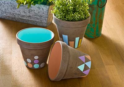 Fall Pastel Clay Pots