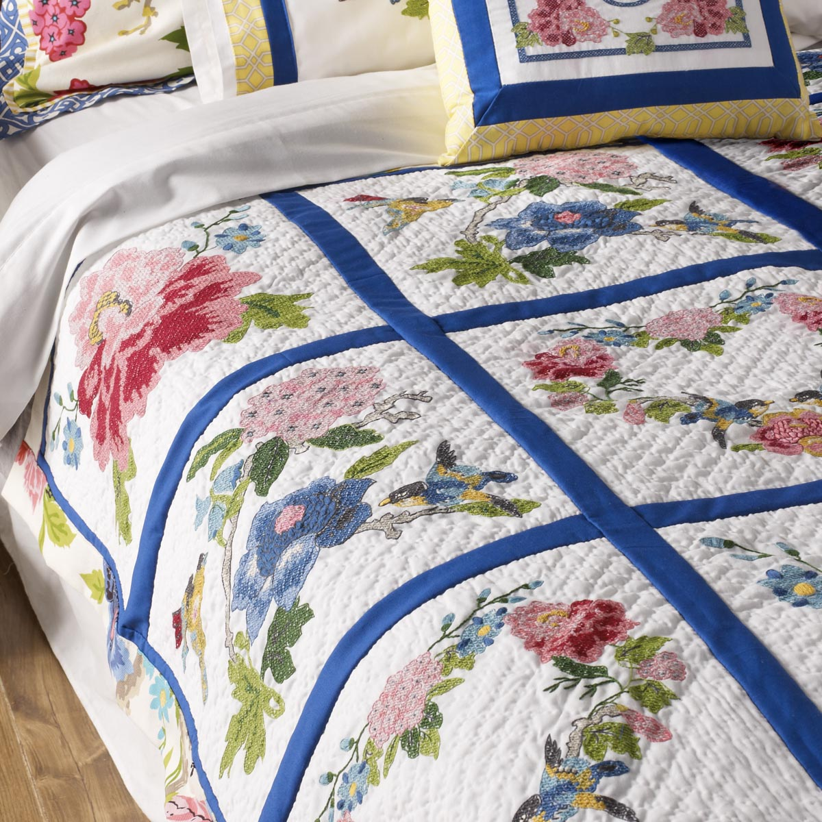 Bucilla ® Waverly ® Charmed Collection Stamped Quilt Blocks