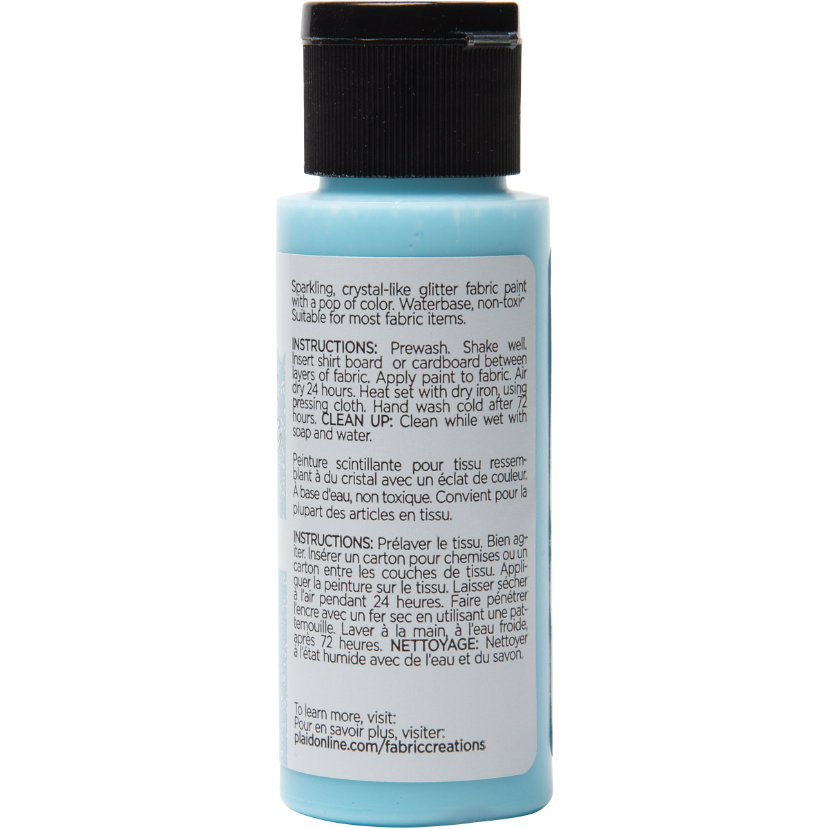 Fabric Creations™ StarStruck Glitter™ Fabric Paint - Light Blue Ice, 2 oz. - 44683