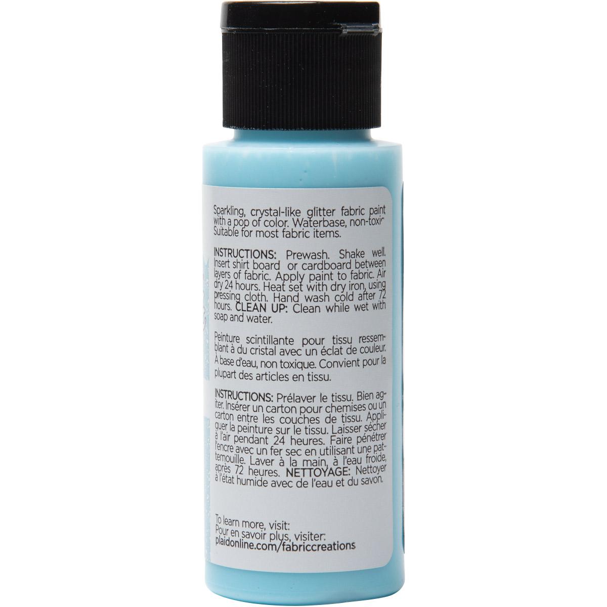 Fabric Creations™ StarStruck Glitter™ Fabric Paint - Light Blue Ice, 2 oz.