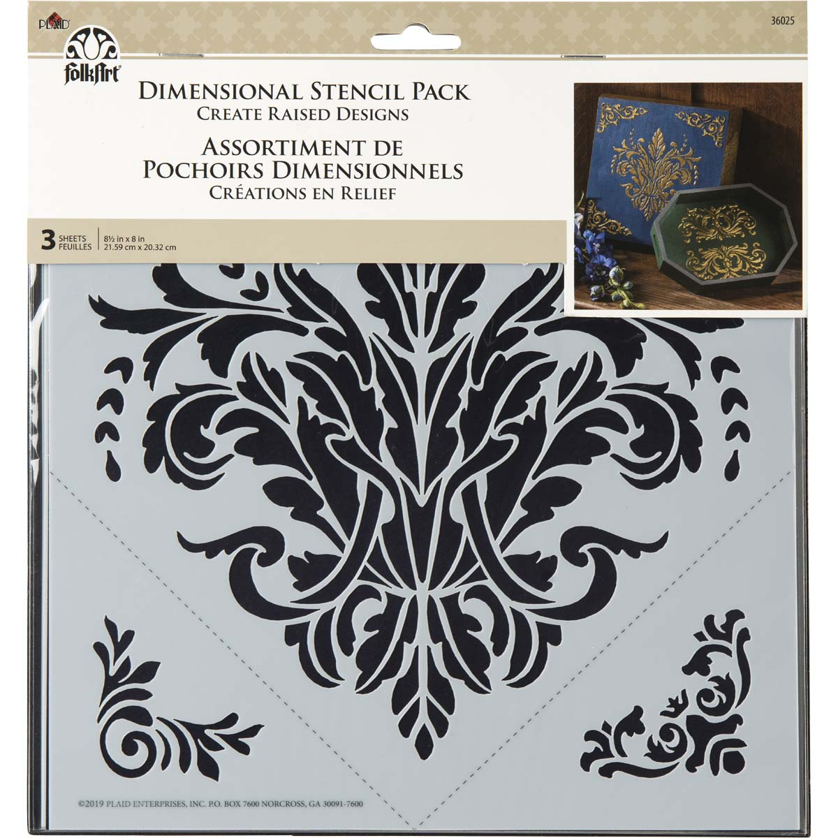 FolkArt ® Dimensional Stencil Pack - Architectural, 3 pc. - 36025