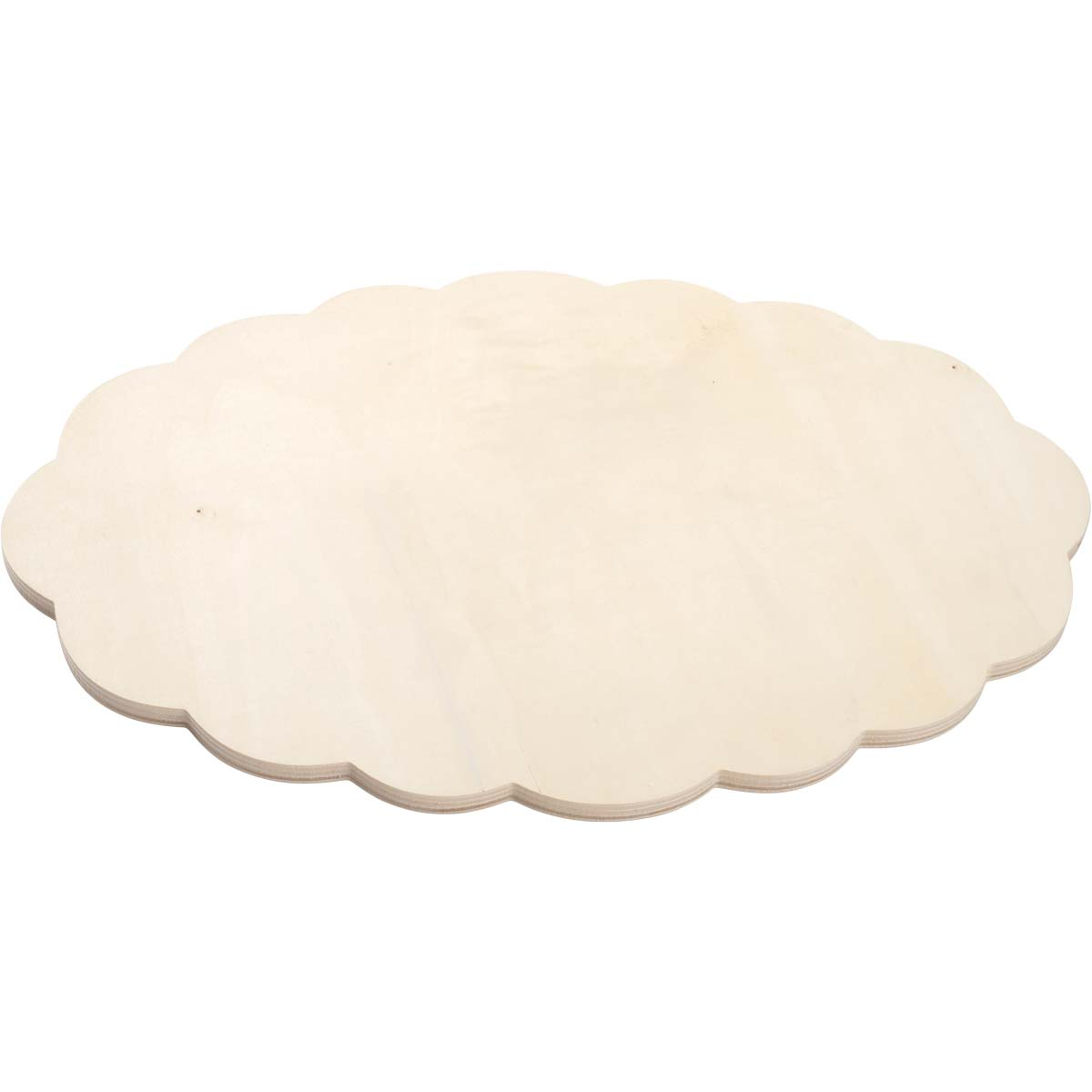 Plaid ® Wood Surfaces - Plaques - Extra Large Oval Scallop - 56690