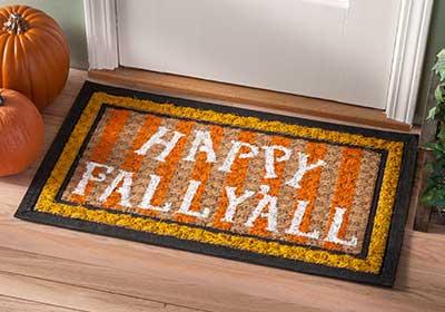 Happy Fall Y'all Welcome Door Mat