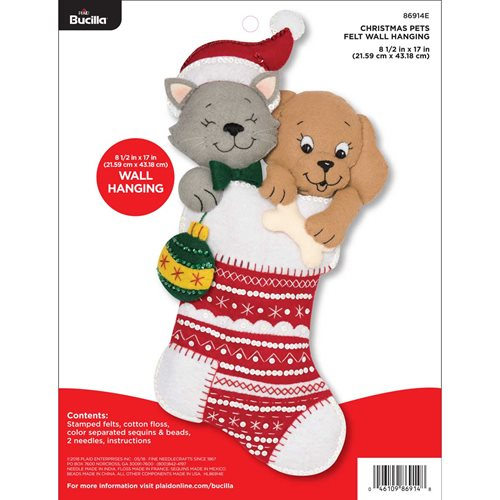 Bucilla ® Seasonal - Felt - Home Decor - Christmas Pets Wall Hanging