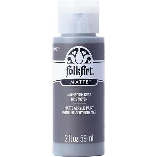 FolkArt ® Acrylic Colors - Medium Gray, 2 oz.