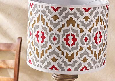 DIY Painted Lampshade
