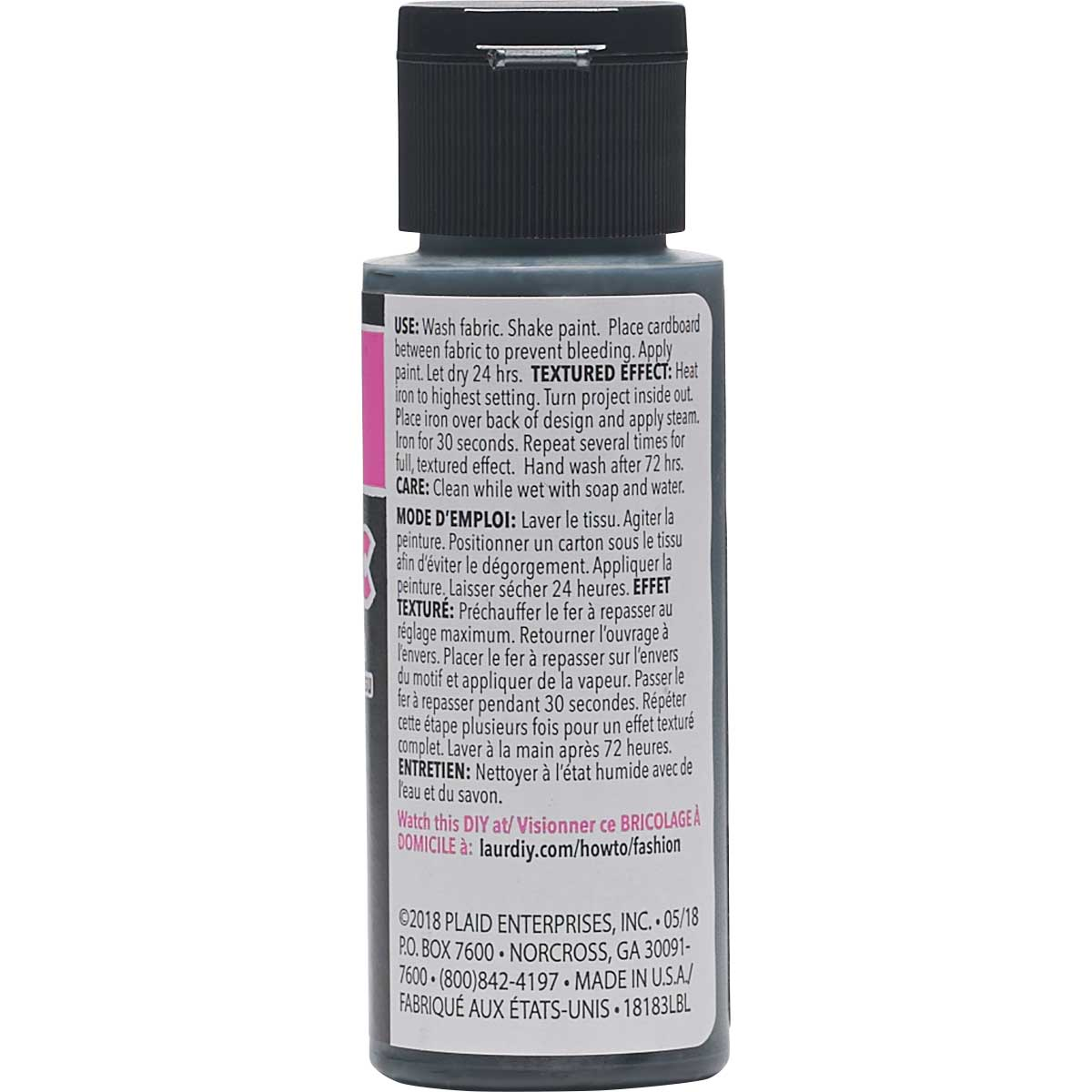LaurDIY ® Texturific™ Fabric Paint - False Alarm, 2 oz.