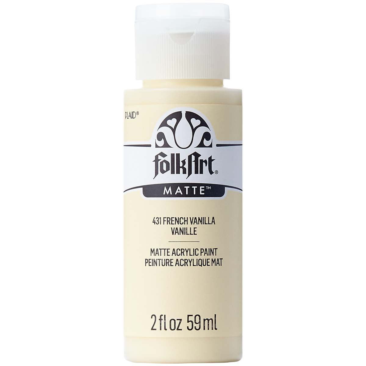 FolkArt ® Acrylic Colors - French Vanilla, 2 oz. - 431