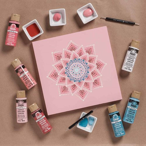 Pink Canvas Mandala