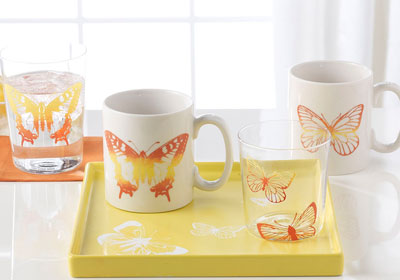 Butterfly Coffee & Juice Set