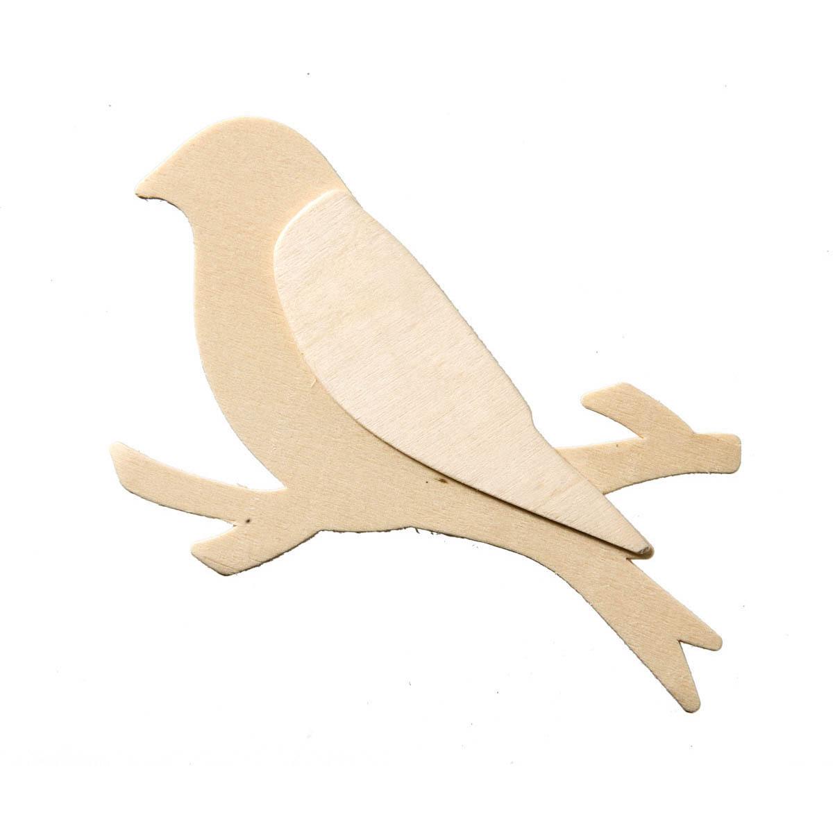 UNPAINTED WOOD SHAPE - BIRD