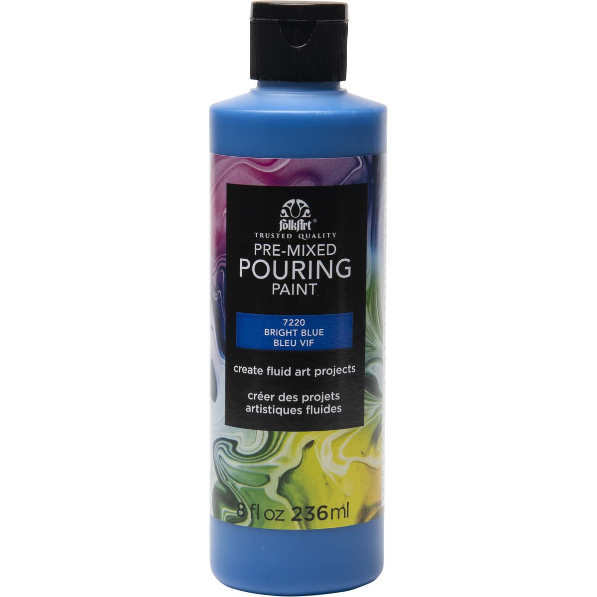 FolkArt ® Pre-mixed Pouring Paint - Bright Blue, 8 oz. - 7220