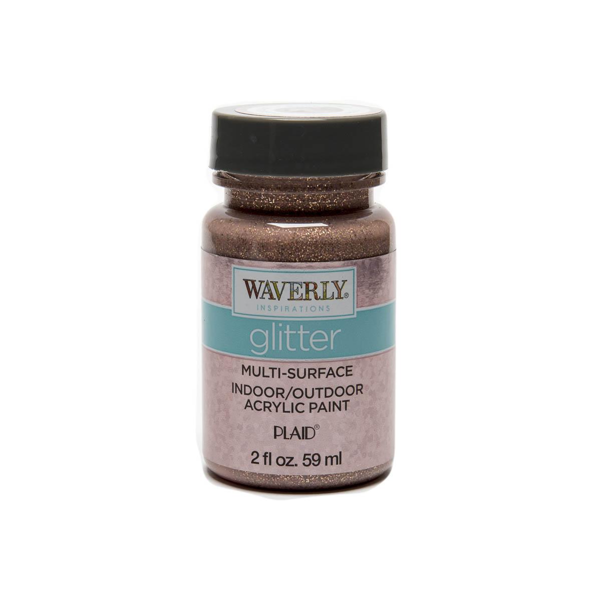Waverly ® Inspirations Glitter Multi-Surface Acrylic Paint - Rose Gold, 2 oz. - 60938E