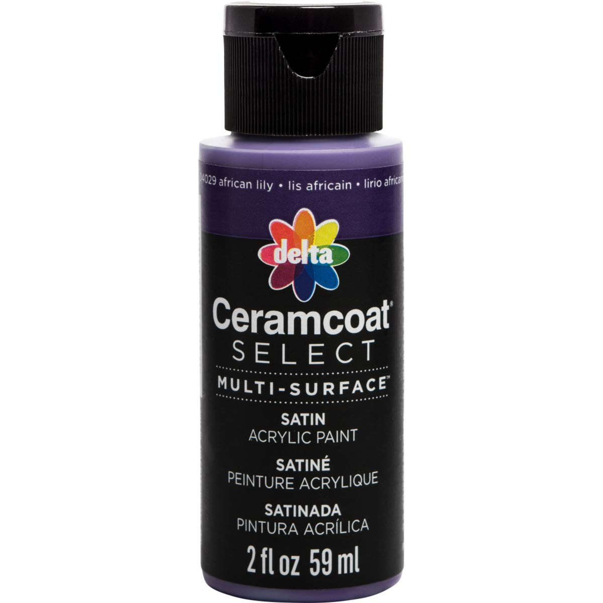 Delta Ceramcoat ® Select Multi-Surface Acrylic Paint - Satin - African Lily, 2 oz. - 04029