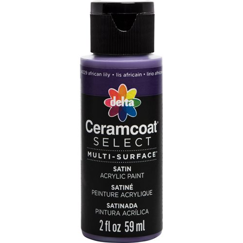 Delta Ceramcoat ® Select Multi-Surface Acrylic Paint - Satin - African Lily, 2 oz.