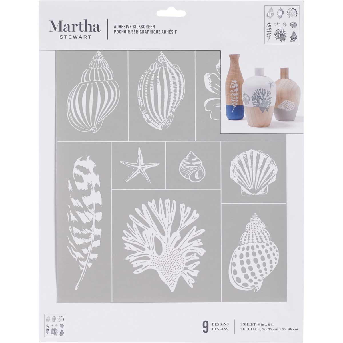 Martha Stewart ® Adhesive Silkscreen - Sea Life - 5633