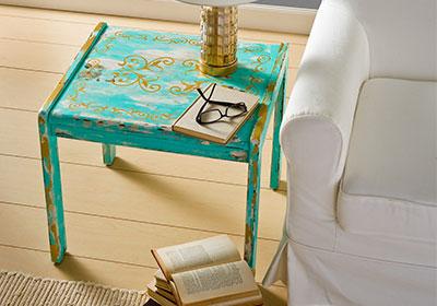 Repurposed End Table