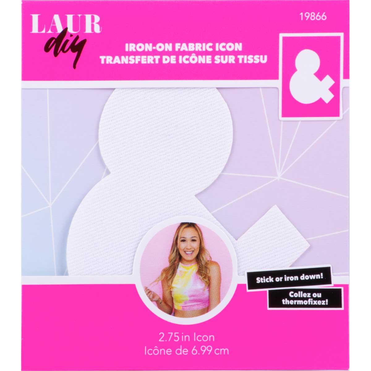 LaurDIY ® Iron-on Fabric Letters - &