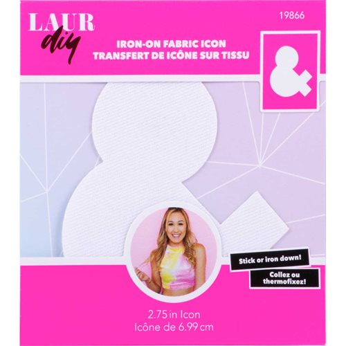 LaurDIY ® Iron-on Fabric Letters - &