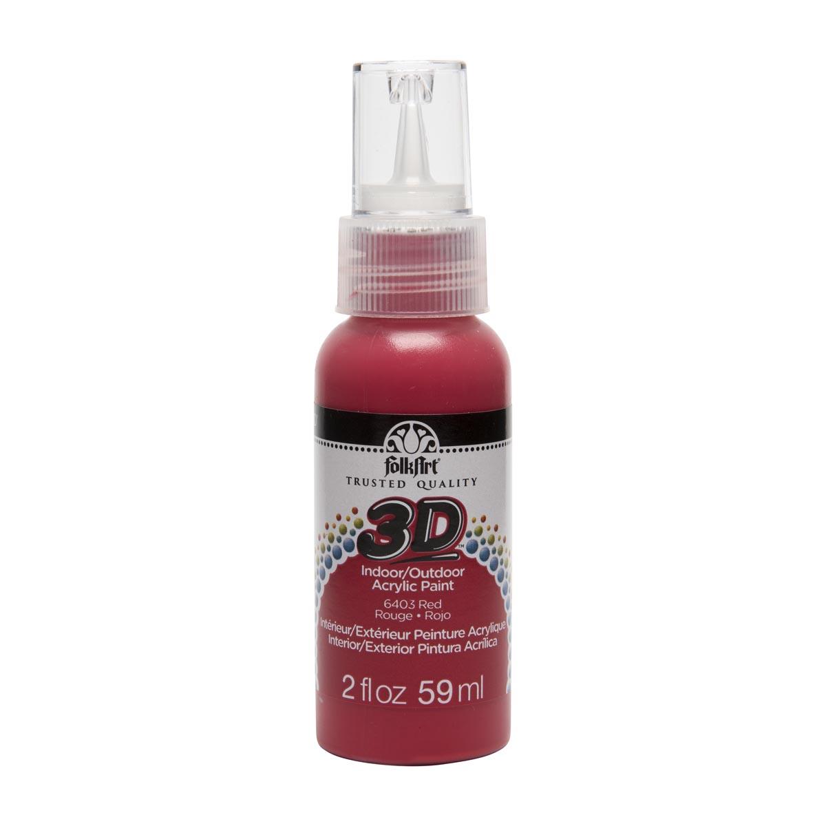 FolkArt ® 3D™ Acrylic Paint - Red, 2 oz.