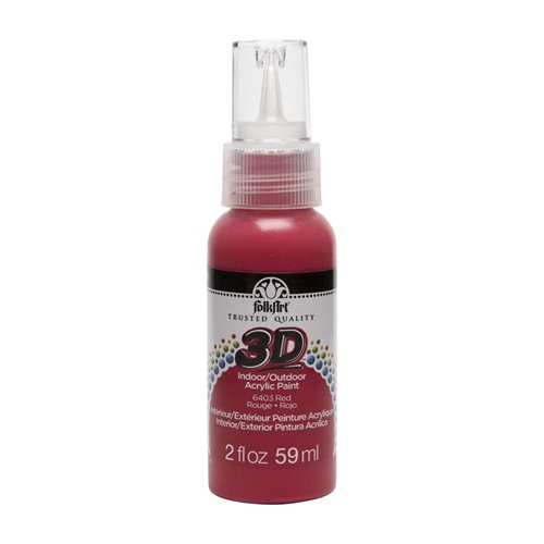 FolkArt ® 3D™ Acrylic Paint - Red, 2 oz.
