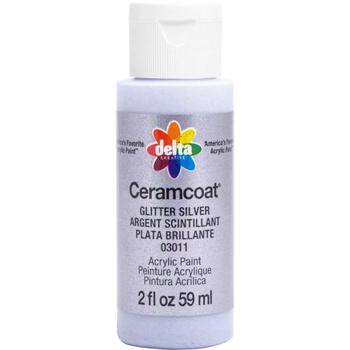 Delta Ceramcoat ® Acrylic Paint - Glitter Silver, 2 oz. - 03011