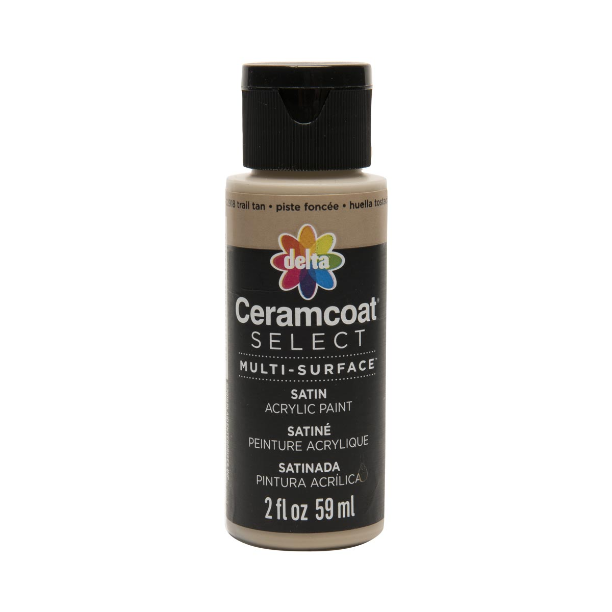 Delta Ceramcoat ® Select Multi-Surface Acrylic Paint - Satin - Trail Tan, 2 oz.
