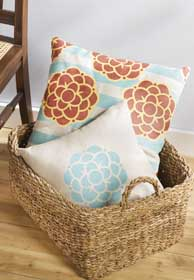 Stenciled Throw Pillow Set