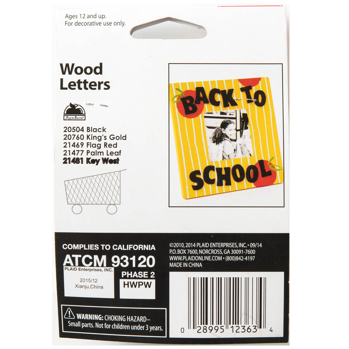 Plaid ® Wood Surfaces - Letter Packs - Bold - 12363