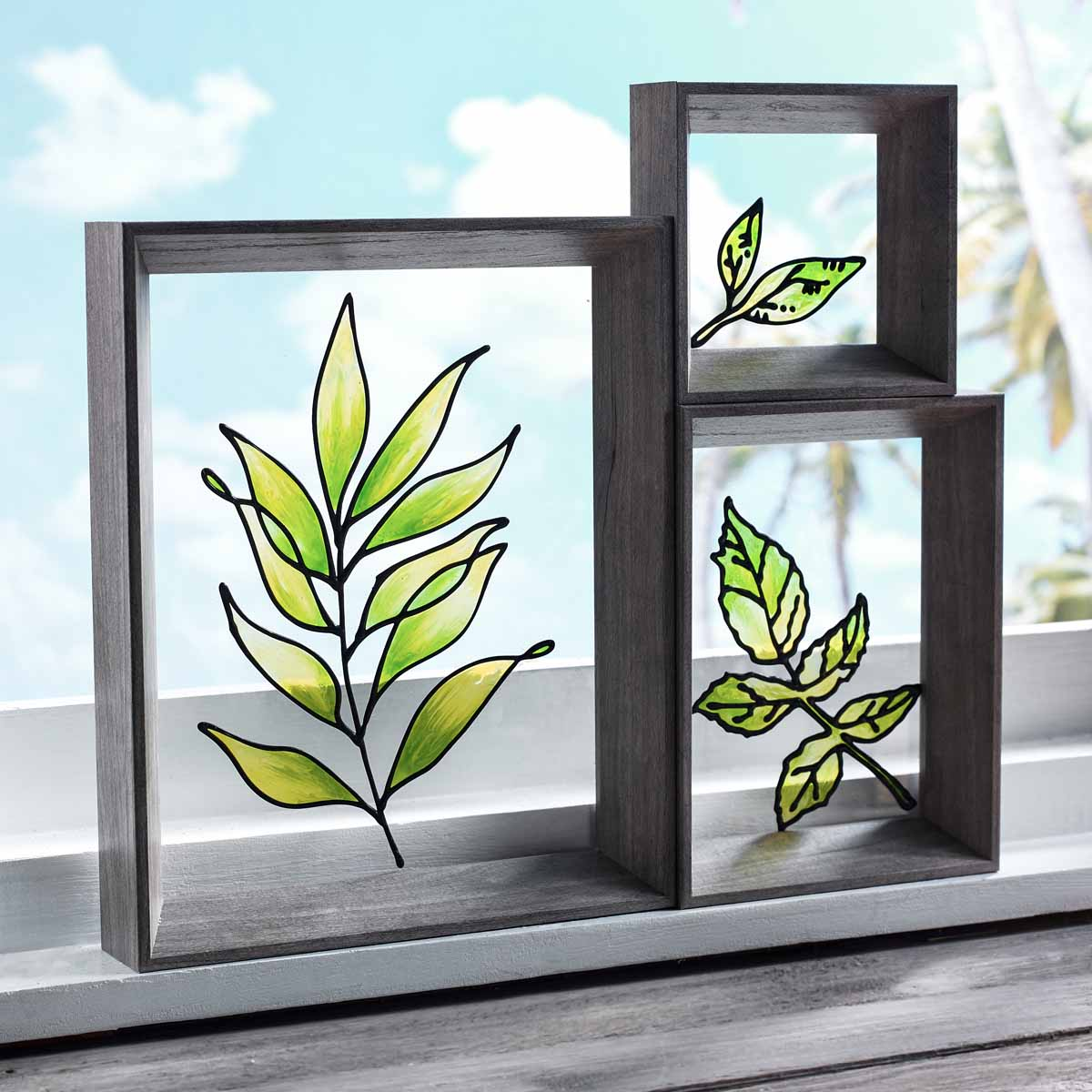Gallery Glass Fall Leaves Floating Frames