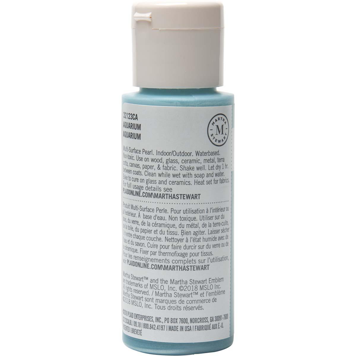Martha Stewart ® Multi-Surface Pearl Acrylic Craft Paint - Aquarium, 2 oz. - 32123CA