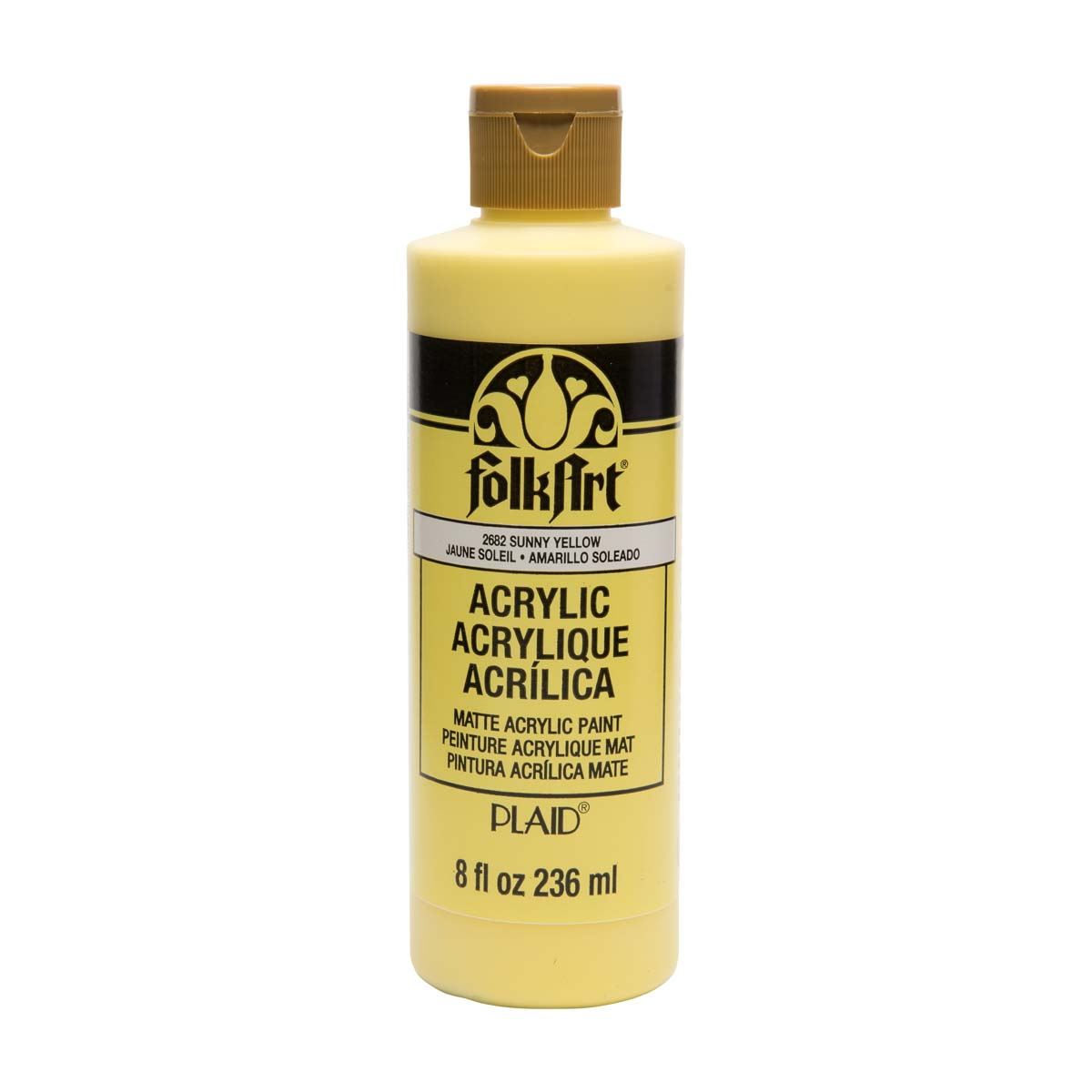 FolkArt ® Acrylic Colors - Sunny Yellow, 8 oz. - 2682