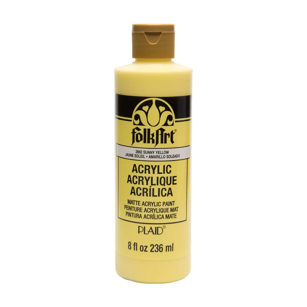 FolkArt ® Acrylic Colors - Sunny Yellow, 8 oz.