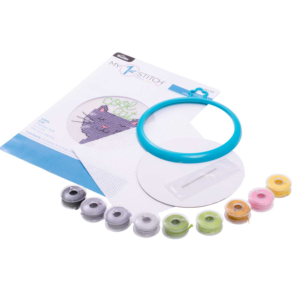 Bucilla ® My 1st Stitch™ - Counted Cross Stitch Kits - Mini - Cool Cat