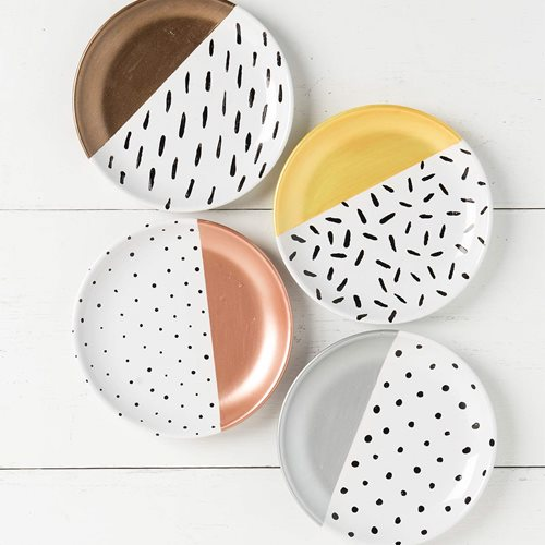 Metallic Print Dishes