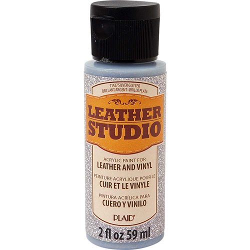 Leather Studio™ Leather & Vinyl Paint Colors - Glitter Silver, 2 oz.