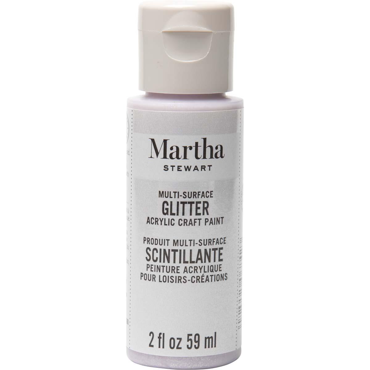 Martha Stewart® 2oz Multi-Surface Glitter Acrylic Craft Paint - Sugar Cube