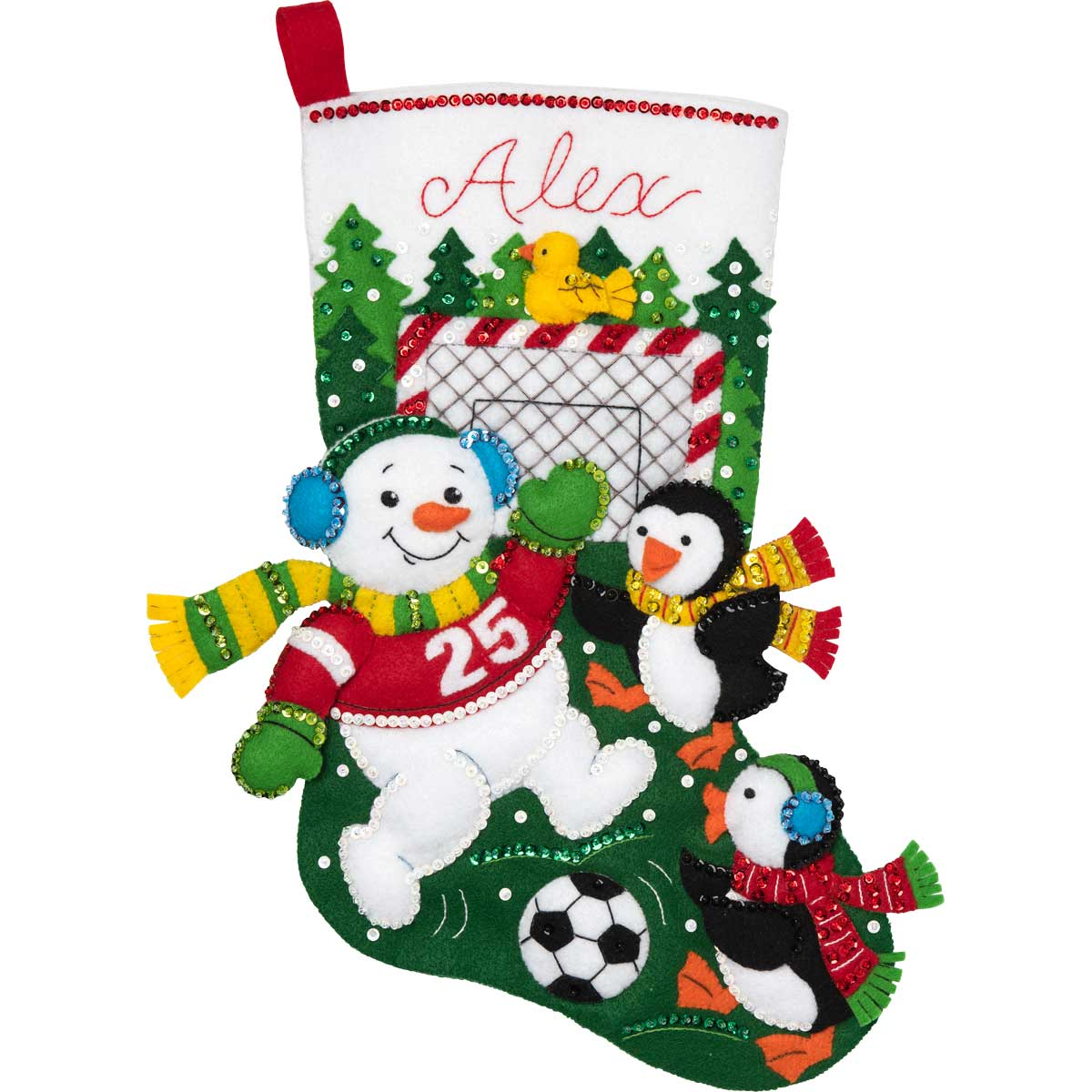 Bucilla ® Seasonal - Felt - Stocking Kits - Snowman Soccer Fan - 86904E