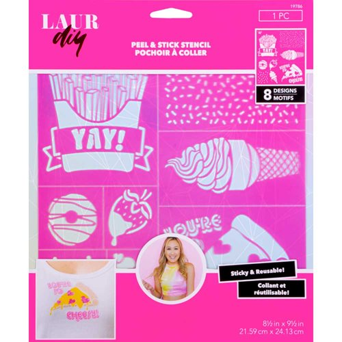 LaurDIY ® Peel & Stick Stencils - Large - Sweetie Pie