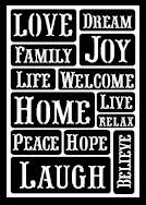 FolkArt ® Peel & Stick Painting Stencils - Happy Words